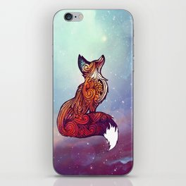 Space Fox iPhone Skin