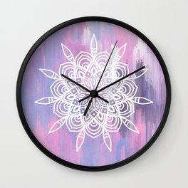 Pastel Abstract Mandala Wall Clock