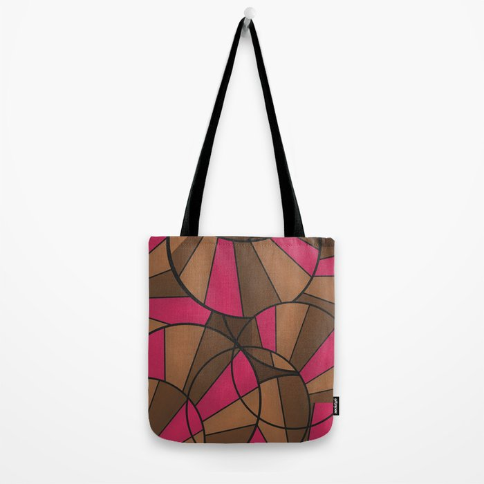 Brown pink pattern abstract . Tote Bag