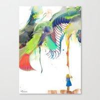 archan nair Canvas Prints featuring Azalia by Archan Nair