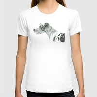 great dane T-shirts featuring Great dane - harlequin by Doggyshop