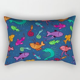 extraordinary sea creatures Rectangular Pillow