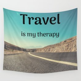 Travel is my therapy Wall Tapestry