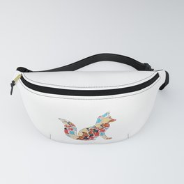 Colorful Woodland Fox Abstract Illustration Fanny Pack