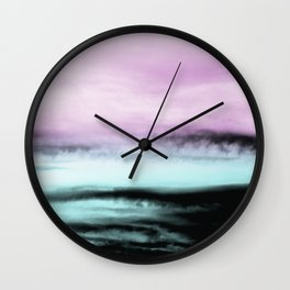 Ocean Love #2 #abstract #decor #art #society6 Wall Clock