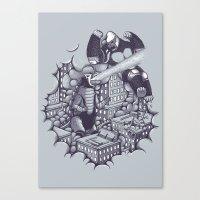 kaiju Canvas Prints featuring Lucha Kaiju by Jonah Makes Artstuff