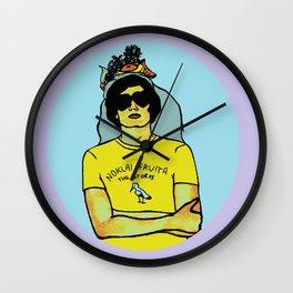 """Noklai Fruita, The Storks"" Nikolai Fraiture / The Strokes Colored Wall Clock"