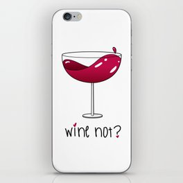 Wine not? Red wine iPhone Skin