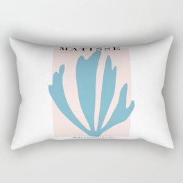 Henri matisse baby pink and sky blue art print, modern home decor Rectangular Pillow