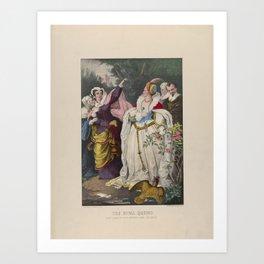 The Rival Queens – Mary Queen of Scots Defying Queen Elizabeth,1857–72 Art Print