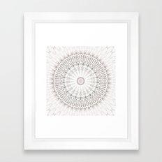 Taupe Mandala Framed Art Print