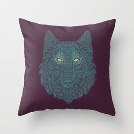 Wolf of Winter Throw Pillow
