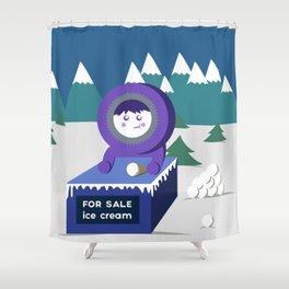 Eskimo Ice Cream Shower Curtain
