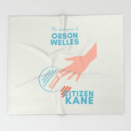 Citizen Kane, minimal movie poster, Orson Welles film, hollywood masterpiece, classic cinema Throw Blanket