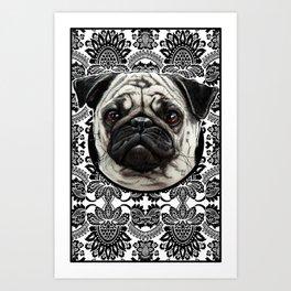 Pug - decorative Art Print