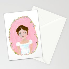 Jane Austen Character Illustration Stationery Cards