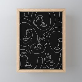 Faces in Dark Framed Mini Art Print
