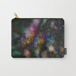 Black Colorful Abstract Carry-All Pouch
