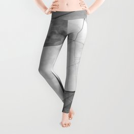 Black and White Cubism Leggings