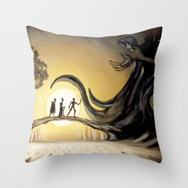 The Tale of the Three Brothers Throw Pillow