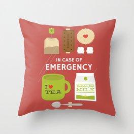 Emergency Tea Throw Pillow