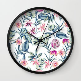 Spring Florals Wall Clock