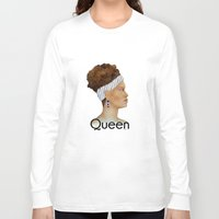 queen Long Sleeve T-shirts featuring Queen by Nina Bryant Studio