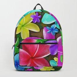 Plumerias Flowers Dream Backpack