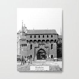 Krakow minimal city #cracow #krakow Metal Print