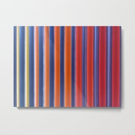 Hot & Cold Stripes Metal Print