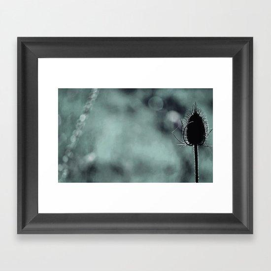 Nature in blue Framed Art Print