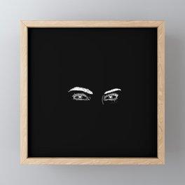 Heart Eyes Framed Mini Art Print