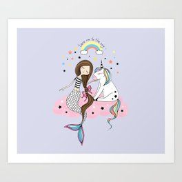 Mermaid & Unicorn Kunstdrucke