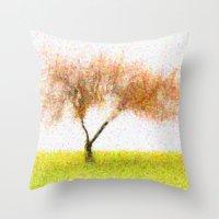 tree of life Throw Pillows featuring Life Tree by Joao Bizarro