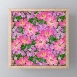 tossed flower garden Framed Mini Art Print