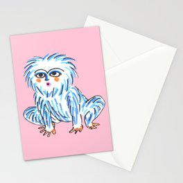 Yeti Pattern Stationery Cards