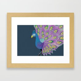 Peafowl #society6 #feathers Framed Art Print