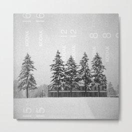 Snowstorm at the Fort Metal Print