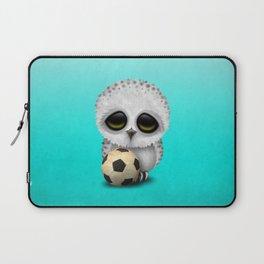 Cute Baby Owl With Football Soccer Ball Laptop Sleeve