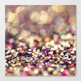 Rainbow Sprinkles - an abstract photograph Canvas Print