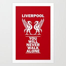 Slogan Liverpool Art Print