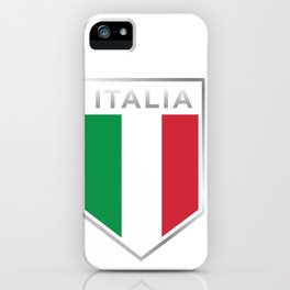 Italian Pride - Italian Soccer Jersey Style iPhone Case