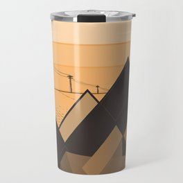 Little mountains and a car  Travel Mug