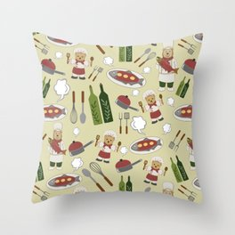 Alaskan Culinary Artists Honey Throw Pillow