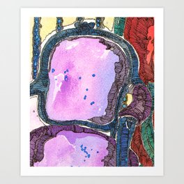 Purple Chair Art Print