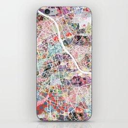 Warsaw map iPhone Skin