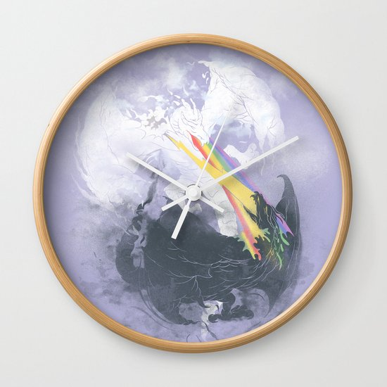 Clash of the sky Dragons Wall Clock