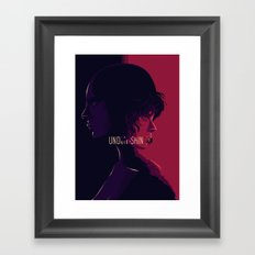 undther the skin - alternative movie poster 02 Framed Art Print