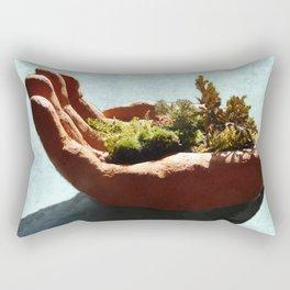 Bush in the Hand Rectangular Pillow