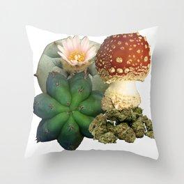 Natural Entheogens Throw Pillow